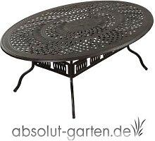 Tisch Nexus oval 216 x 152 x 74 cm Aluguss von Inko