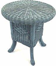 Tisch Rattantisch, Beistelltisch aus Peddigrohr,