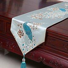 Tisch runner chinese style klassischen tischtuch wohnzimmer esszimmer tisch tv schrank -A 33x210cm(13x83inch)
