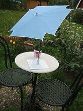 Tisch-Sonnenschirm die Attraktion auf jedem Frühstücks-Steh-Camping-Tisch – hellblau