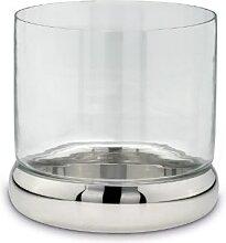 Tisch Windlicht Kerzenhalter glatt poliert Ø 24 cm