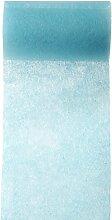 Tischband 10cm schmaler Hochzeits-Tisch-Läufer Mitteldecke Vlies-Stoff einfarbig (Türkis)