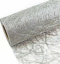Tischband SILBER Struktur-Tischläufer 25m -