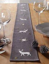 Tischband Winter grau 14x160cm
