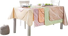 Tischdecke 1 80x80 cm, Mitteldecke beige