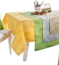 Tischdecke 1 90x90 cm, Mitteldecke grau
