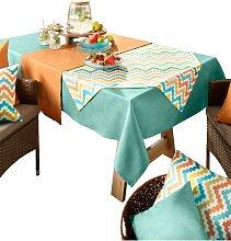 Tischdecke 1 90x90 cm Mitteldecke orange