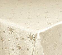 Tischdecke 135x200cm eckig gold mit Lurex Garn und eingewebten Sternen, dekorativ für die Weihnachtszeit in Gold, Rot/Silber, Anthrazit/Silber und Silber, außerdem in vielen Größen erhältlich und natürlich pflegeleich