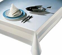 Tischdecke 140x220 cm - Vollzwirn Damast weiß
