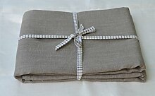 Tischdecke 140x230 cm natur (grau beige) - edle