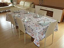 Tischdecke 150x250 Lemos-Liebe aus 100% Baumwolle. Marke Lemos-Home.