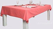 Tischdecke 150x260 aus 100% Baumwolle. Marke Lemos-Home. Farbe wählbar. (Lachs)