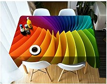 Tischdecke 3D Farbe Blumenmuster staubdicht Dicke