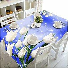 Tischdecke 3D geschnitzten Blumen Muster