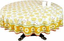 Tischdecke 4 Sitzer 70 Zoll runden Baumwolle Floral Print indische Dekoration