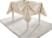 Tischdecke 5 140x190 cm oval braun Tischdecken
