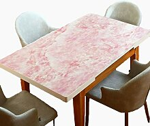 Tischdecke, abwaschbar, Marmormuster, PVC,