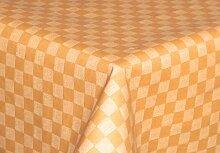 Tischdecke abwaschbar terra mit Karo Motiv 140x180cm oval, Wachstuch für die Küche, Balkon und Garten ,eckig - Größe wählbar (Rund Eckig Oval)