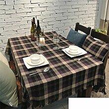 Tischdecke American Pastoral Dorf Cafe Tischdecke,Tee Tischdecke-B 140x200cm(55x79inch)