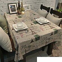 Tischdecke,Amerikanische Retro-tapete Tischdecke,Tee Tischdecke-E 120x170cm(47x67inch)