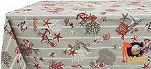 Tischdecke aus 100% Baumwolle Fantasie Meer 140x180 ro