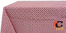 Tischdecke aus 100% Baumwolle Fantasie Polly 140x140 ro
