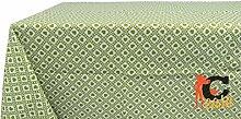 Tischdecke aus 100% Baumwolle Fantasie Polly 140x180 grün