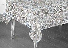 Tischdecke aus 100% Baumwolle Fantasie Steingut