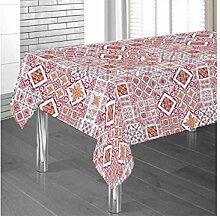 Tischdecke aus 100% Baumwolle Fantasie Steingut Rotonda ro