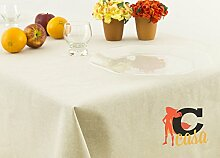 Tischdecke aus 100% Baumwolle in Uni 140x240 grau