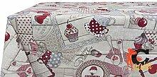 Tischdecke aus 100% Baumwolle Muster Party 140x180 ro
