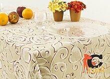 Tischdecke aus 100% Baumwolle Position Amelie 140x240 Amelie Rosso