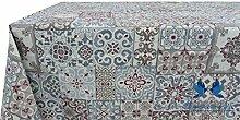 Tischdecke aus 100% Baumwolle Position Fliesen Typ R.P. 140x240 ro