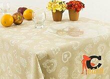 Tischdecke aus 100% Baumwolle Position Herz