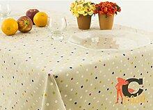 Tischdecke aus 100% Baumwolle Position Konfetti 140x140 fuchsia