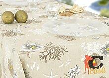 Tischdecke aus 100% Baumwolle Position Koralle