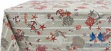 Tischdecke aus 100% Baumwolle Position Meer 140x180 ro