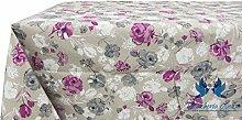 Tischdecke aus 100% Baumwolle Position Pink 140x140 Rosa
