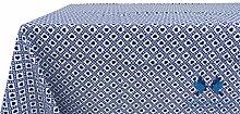 Tischdecke aus 100% Baumwolle Position Polly 140x140 blau