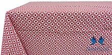 Tischdecke aus 100% Baumwolle Position Polly 140x140 ro
