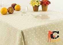 Tischdecke aus 100% Baumwolle Position Punkten