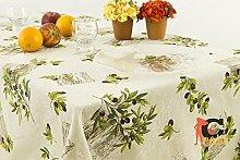 Tischdecke aus 100% Baumwolle Position Salo 140x240 grau
