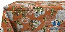 Tischdecke aus 100% Baumwolle Position Sirmione 140x240 Arancio