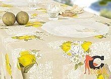 Tischdecke aus 100% Baumwolle Position Zitronen 140x180 gelb
