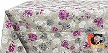 Tischdecke aus 100% Baumwolle rosa Muster 140x240
