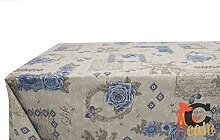 Tischdecke aus Baumwolle Fantasie Emy 140x240 blau