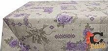 Tischdecke aus Baumwolle Fantasie Emy 140x240 Lilla