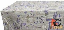 Tischdecke aus Baumwolle Fantasie Lavendel 140x240