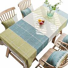 Tischdecke aus Baumwolle, kariert, rechteckig,