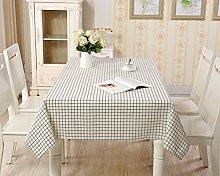 Tischdecke aus Baumwolle mit frischem, kariertem